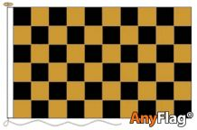 - BLACK AND GOLD  CHECK ANYFLAG RANGE - VARIOUS SIZES